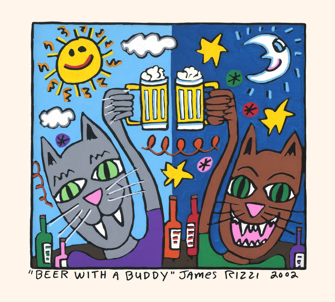James Rizzi - BEER WITH A BUDDY